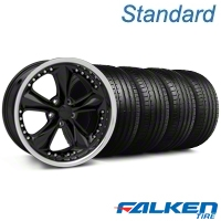 Foose Nitrous Black Wheel & Falken Tire Kit - 18x9 (05-14 All) - American Muscle Wheels KIT||mb1||79569||32817