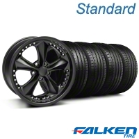 Foose Nitrous Matte Black Wheel & Falken Tire Kit - 18x9 (05-14 All) - American Muscle Wheels KIT||79569||32828||mb1