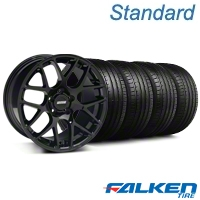 AMR Black Wheel & Falken Tire Kit - 18x9 (05-14 All) - American Muscle Wheels KIT||33782||79569