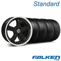 Shelby Razor Black Wheel & Falken Tire Kit - 18x9 (05-14 All) - American Muscle Wheels KIT||79569||99226||mb1