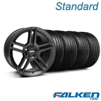 2010 GT500 Style Matte Black Wheel & Falken Tire Kit - 18x9 (05-14 All) - American Muscle Wheels KIT||99268||79569