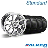 2007 GT500 Style Chrome Wheel & Falken Tire Kit - 18x9.5 (05-14 All) - American Muscle Wheels KIT||mb1||79569||28045