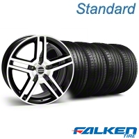 2007 GT500 Black Machined Wheel & Falken Tire Kit - 18x9.5 (05-14 All) - American Muscle Wheels KIT||mb1||28072||79569