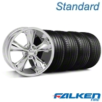 Foose Legend Chrome Wheel & Falken Tire Kit - 18x9.5 (05-10 GT, V6) - American Muscle Wheels KIT||32825||mb1||79569