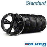 Foose Legend Black Wheel & Falken Tire Kit - 18x9.5 (05-10 GT, V6) - American Muscle Wheels KIT||79569||32827||mb1