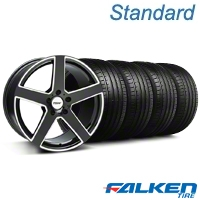 TSW Rivage Black Machined Wheel & Falken Tire Kit - 18x9.5 (05-14 All) - American Muscle Wheels KIT||33590