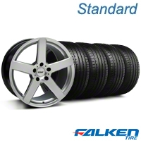 TSW Rivage Hyper Silver Wheel  & Falken Tire Kit - 18x9.5 (05-14 All) - American Muscle Wheels KIT||33594