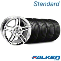 2010 GT500 Chrome Wheel & Falken Tire Kit - 19x8.5 (05-14 All) - American Muscle Wheels KIT||28237||79571