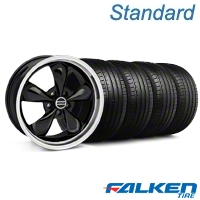Bullitt Black Wheel & Falken Tire Kit - 19x8.5 (05-14 GT, V6) - American Muscle Wheels 28247