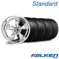 Bullitt Chrome Wheel & Falken Tire Kit - 19x8.5 (05-14 GT, V6) - American Muscle Wheels mb1