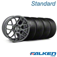 AMR Charcoal Wheel & Falken Tire Kit - 19x8.5 (05-14 All) - American Muscle Wheels KIT||28336||79571