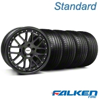 TSW Valencia Matte Black Wheel & Falken Tire Kit - 19x8 (05-14 All) - American Muscle Wheels KIT||79571||33613||mb1