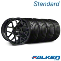 AMR Black Wheel & Falken Tire Kit - 19x8.5 (05-14 All) - American Muscle Wheels KIT||33783||79571