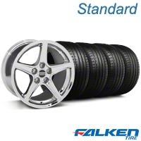 Saleen Chrome Wheel & Falken Tire Kit - 19x8.5 (05-14 GT, V6) - American Muscle Wheels KIT||79571||99261||mb1