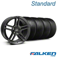 2010 GT500 Matte Black Wheel & Falken Tire Kit - 19x8.5 (05-14 All) - American Muscle Wheels KIT||99270||79571
