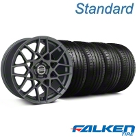 2013 GT500 Charcoal Wheel & Falken Tire Kit - 19x8.5 (05-14 All) - American Muscle Wheels KIT||99372||79571