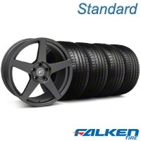 Forgestar CF5 Monoblock Matte Black Wheel & Falken Tire Kit - 19x9 (05-14 All) - American Muscle Wheels KIT||29600||79571