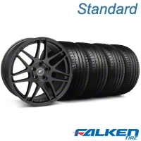 Forgestar F14 Monoblock Matte Black Wheel & Falken Tire Kit - 19x9 (05-14 All) - American Muscle Wheels KIT||29604||79571