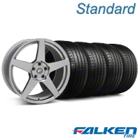 Forgestar CF5 Monoblock Gunmetal Wheel & Falken Tire Kit - 19x9 (05-14 All) - American Muscle Wheels KIT||29608||79571