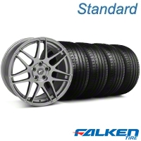 Forgestar F14 Monoblock Gunmetal Wheel & Falken Tire Kit - 19x9 (05-14 All) - American Muscle Wheels KIT||29612||79571