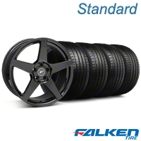 Forgestar CF5 Monoblock Gloss Black Wheel & Falken Tire Kit - 19x9 (05-14 All) - American Muscle Wheels KIT||29616||79571