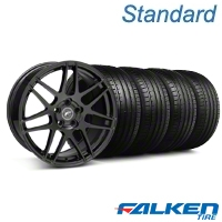 Forgestar F14 Monoblock Gloss Black Wheel & Falken Tire Kit - 19x9 (05-14 All) - American Muscle Wheels KIT||29620||79571