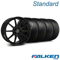 Forgestar CF10 Monoblock Piano Black Wheel & Falken Tire Kit - 19x9 (05-14 All) - American Muscle Wheels KIT||29844||79571