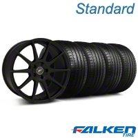 Forgestar CF10 Monoblock Textured Black Wheel & Falken Tire Kit - 19x9 (05-14 All) - American Muscle Wheels KIT||29846||79571