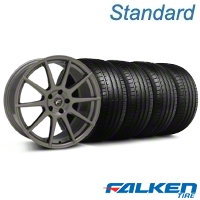 Forgestar CF10 Monoblock Gunmetal Wheel & Falken Tire Kit - 19x9 (05-14 All) - American Muscle Wheels KIT||29848||79571