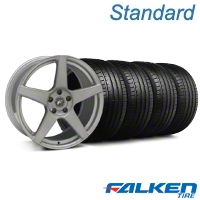 Forgestar CF5 Monoblock Silver Wheel & Falken Tire Kit - 19x9 (05-14 All) - American Muscle Wheels KIT||29852||79571