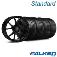 Forgestar CF5V Monoblock Piano Black Wheel & Falken Tire Kit - 19x9 (05-14 All) - American Muscle Wheels KIT||29854||79571