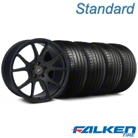 Forgestar CF5V Monoblock Matte Black Wheel & Falken Tire Kit - 19x9 (05-14 All) - American Muscle Wheels KIT||29856||79571