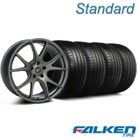 Forgestar CF5V Monoblock Gunmetal Wheel & Falken Tire Kit - 19x9 (05-14 All) - American Muscle Wheels KIT||29858||79571