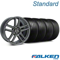 Laguna Seca Style Charcoal Wheel & Falken Tire Kit - 19x9 (05-13 All) - American Muscle Wheels KIT||99220||mb1||79571