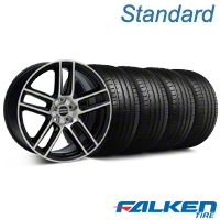 Laguna Seca Style Black Machined Wheel & Falken Tire Kit - 19x9 (05-13 All) - American Muscle Wheels KIT||99224||79571||mb1