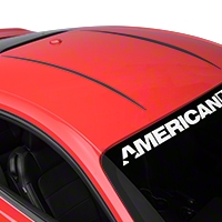 Roof Accent Stripes - Matte Black (2015 All) - American Muscle Graphics 386316