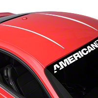 Roof Accent Stripes - White (2015 All) - American Muscle Graphics 386319