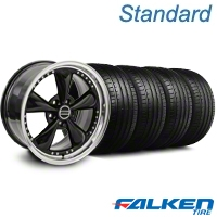 Bullitt Motorsport Black Wheel & Falken Tire Kit - 20x8.5 (05-14 V6; 05-10 GT) - American Muscle Wheels 10084