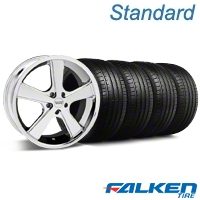Nova Chrome Wheel & Falken Tire Kit - 20x8.5 (05-14 GT, V6) - American Muscle Wheels KIT||mb1||79573||27211
