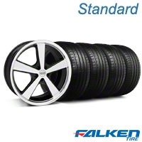 Nova Black Wheel & Falken Tire Kit - 20x8.5 (05-14 GT, V6) - American Muscle Wheels KIT||27212||mb1||79573