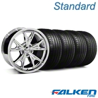 Daytona Chrome Wheel & Falken Tire Kit - 20x8.5 (05-14 GT, V6) - American Muscle Wheels KIT||27217||79573||mb1