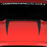 Hood Graphic Decal - Matte Black (2015 All) - American Muscle Graphics 386371