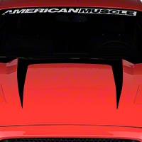 Hood Graphic Decal - Black (2015 All) - American Muscle Graphics 386372