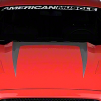 Hood Graphic Decal - Silver (2015 All) - American Muscle Graphics 386373