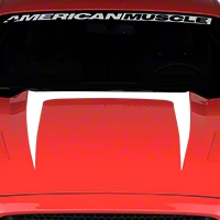 Hood Graphic Decal - White (2015 All) - American Muscle Graphics 386374