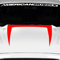 Hood Graphic Decal - Red (2015 All) - American Muscle Graphics 386375