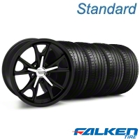 Daytona Matte Black Wheel & Falken Tire Kit - 20x8.5 (05-14 GT, V6) - American Muscle Wheels KIT||27218||mb1||79573