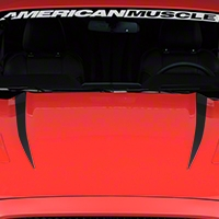 Hood Accent Decal - Matte Black (2015 All) - American Muscle Graphics 386381