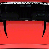 Hood Accent Decal - Black (2015 All) - American Muscle Graphics 386382