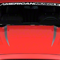 Hood Accent Decal - Silver (2015 All) - American Muscle Graphics 386383